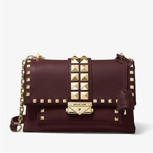 Michael Kors leather studded crossbody bag